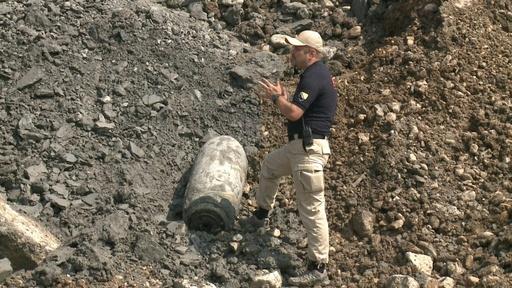 動画:建設現場に500キロの不発弾、第2次世界大戦中に英空軍が投下 ボスニア