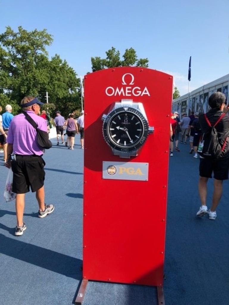 全米プロゴルフ選手権をサポートする「オメガ」