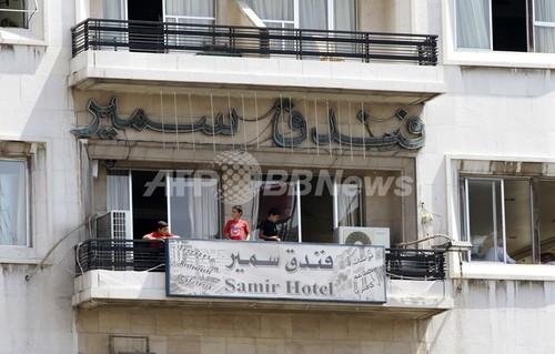 国際ニュース:AFPBB News国内避難民あふれるシリア・ダマスカスのホテル