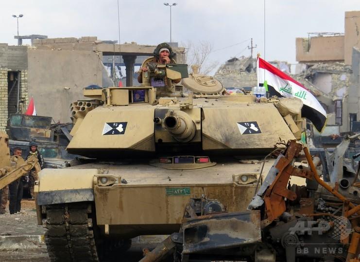 イラク・ラマディ奪還目指す治安部隊、市中心部でISと激戦