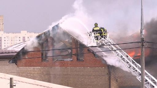 動画:ロシア首都郊外の火力発電所で大規模火災