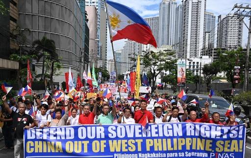 フィリピンで反中デモ、「侵略に等しい」と市民が反発