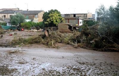 地中海のマヨルカ島で豪雨、洪水で英国人ら10人死亡