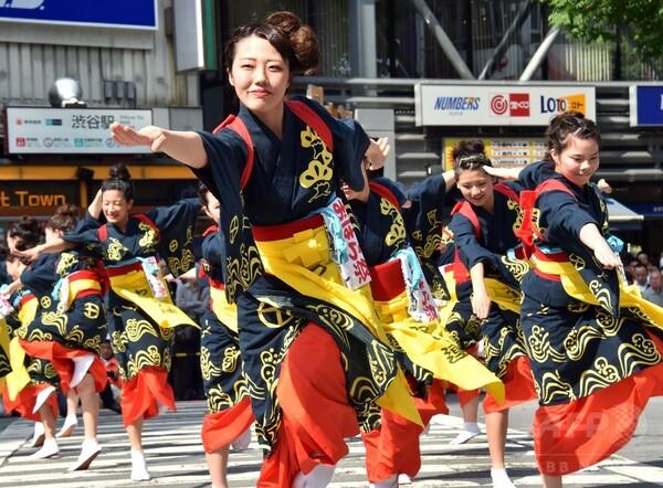 渋谷・鹿児島おはら祭、2600人踊る