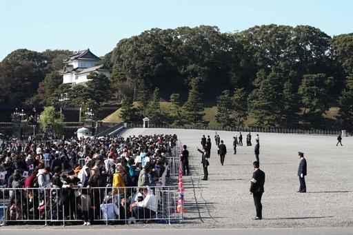 天皇陛下の即位に伴う祝賀パレード、皇居周辺に大行列