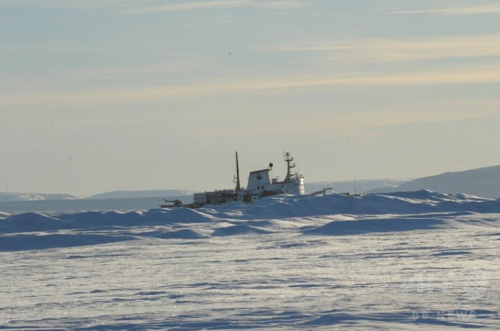 【AFP記者コラム】北極砕氷観測船に乗ってみた
