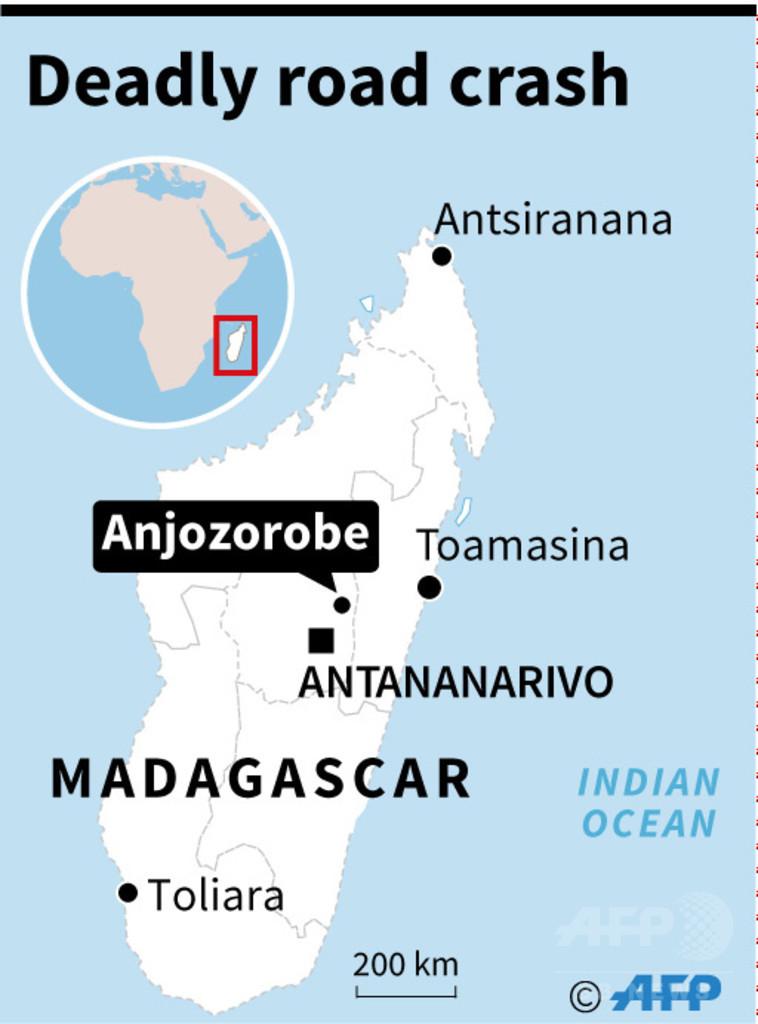 トラックが川に転落、新郎新婦ら47人死亡 マダガスカル