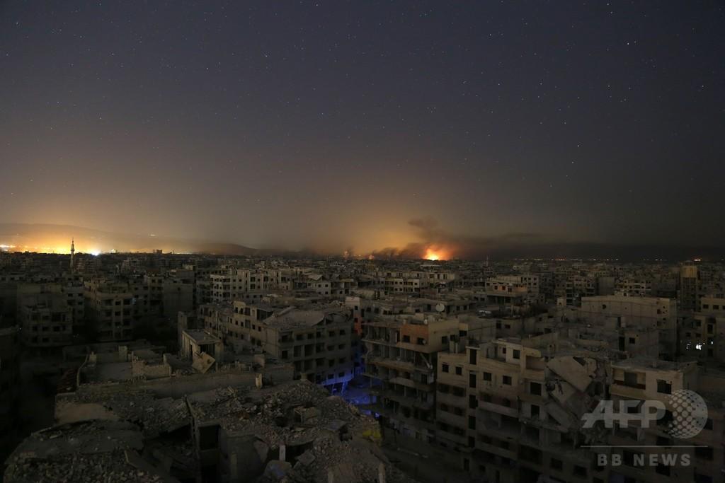 シリア内戦、勃発からまもなく7年で死者35万人以上 監視団発表