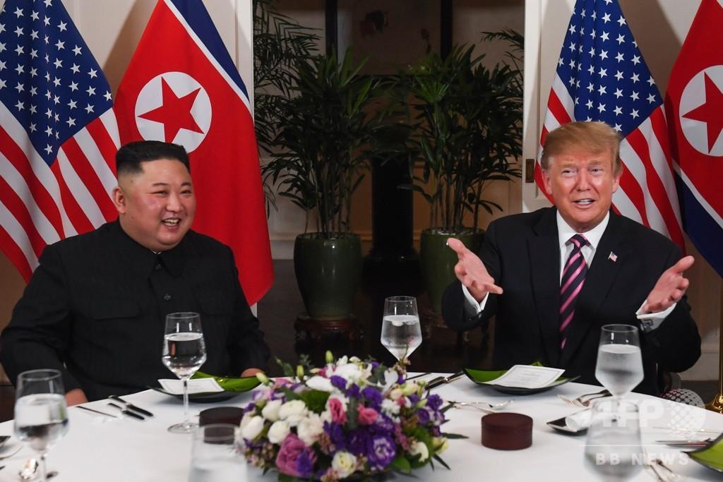 サーロインにキムチの付け合わせ 米朝首脳会談後の夕食会