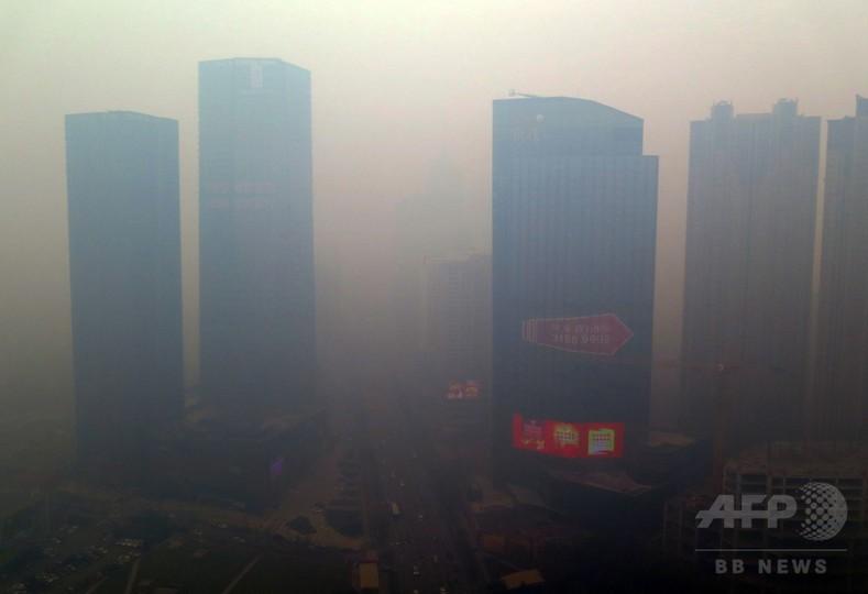 中国で深刻な大気汚染、PM2.5がWHO基準の約50倍