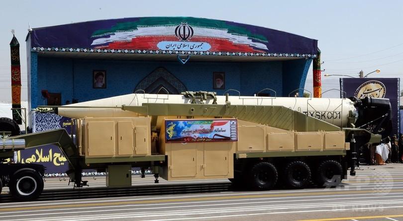 イラン、新型中距離ミサイルの発射実験に「成功」
