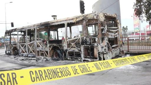 動画:チリ首都で非常事態宣言、地下鉄運賃の値上げめぐり暴動