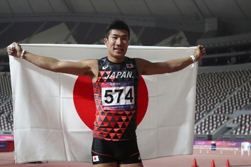 桐生祥秀が100メートル優勝、陸上アジア選手権
