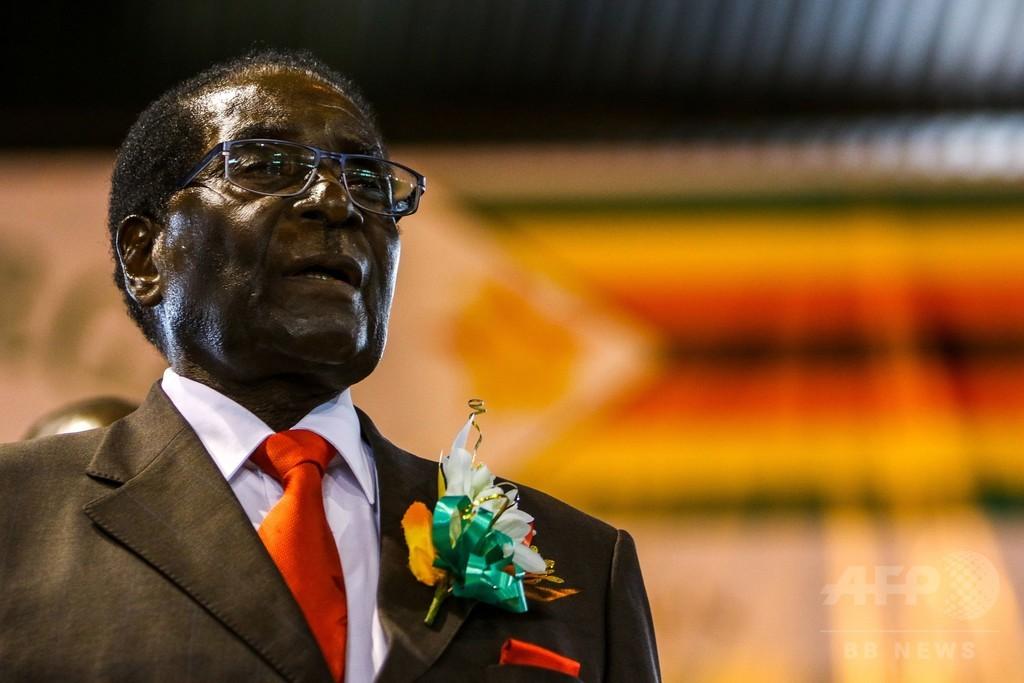 ムガベ大統領のWHO親善大使任命、非難殺到で撤回