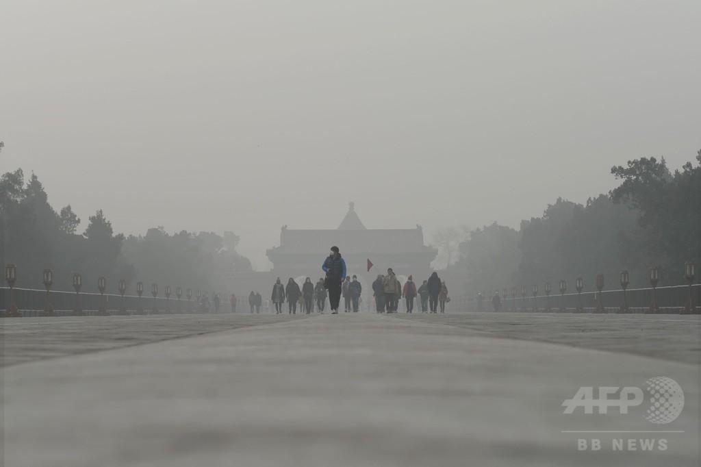 気候変動で深刻化する中国の大気汚染、研究