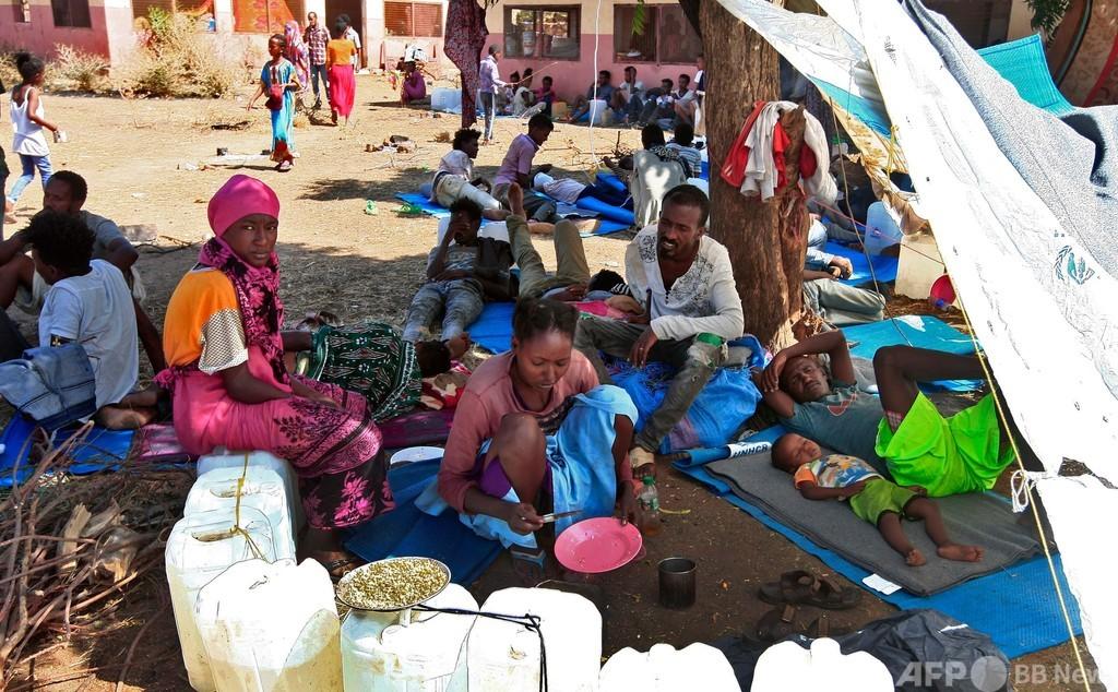 エチオピア人約2.5万人、戦闘逃れスーダンに流入