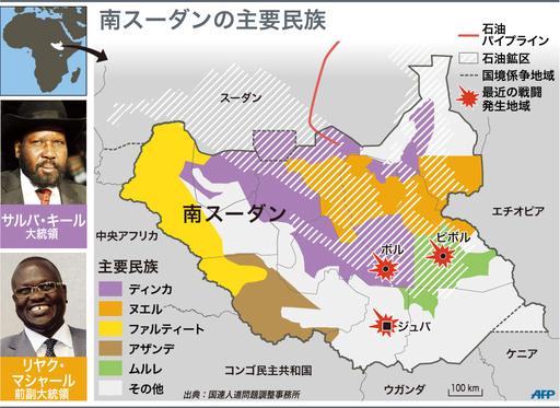 【図解】南スーダンの主要民族
