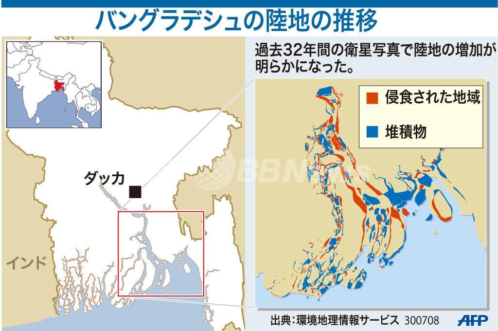 【図解】バングラデシュの陸地の推移