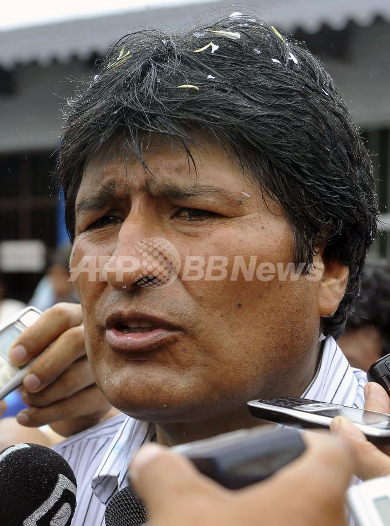 ボリビア大統領選、現職モラレス氏の再選確実 出口調査