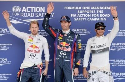 ウェバーがベッテル抑えポールポジション獲得、日本GP