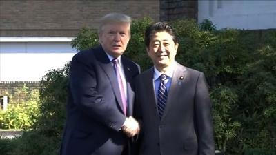 動画:トランプ大統領、安倍首相とゴルフへ