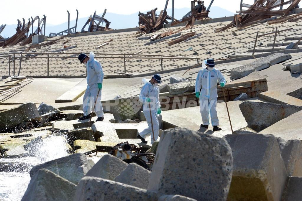 福島県浪江町で不明者捜索、震災から2年