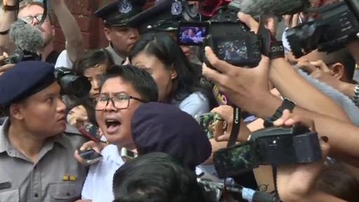動画:ロヒンギャ取材のロイター2記者に禁錮7年の有罪判決、ミャンマー
