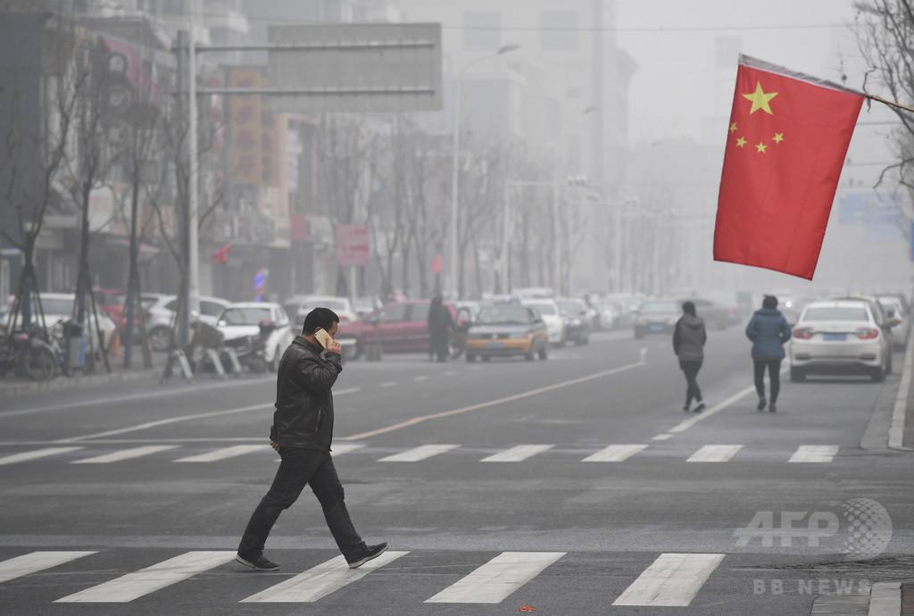 中国、大気中のPM10濃度の低下で早死に年間300万人救える 研究