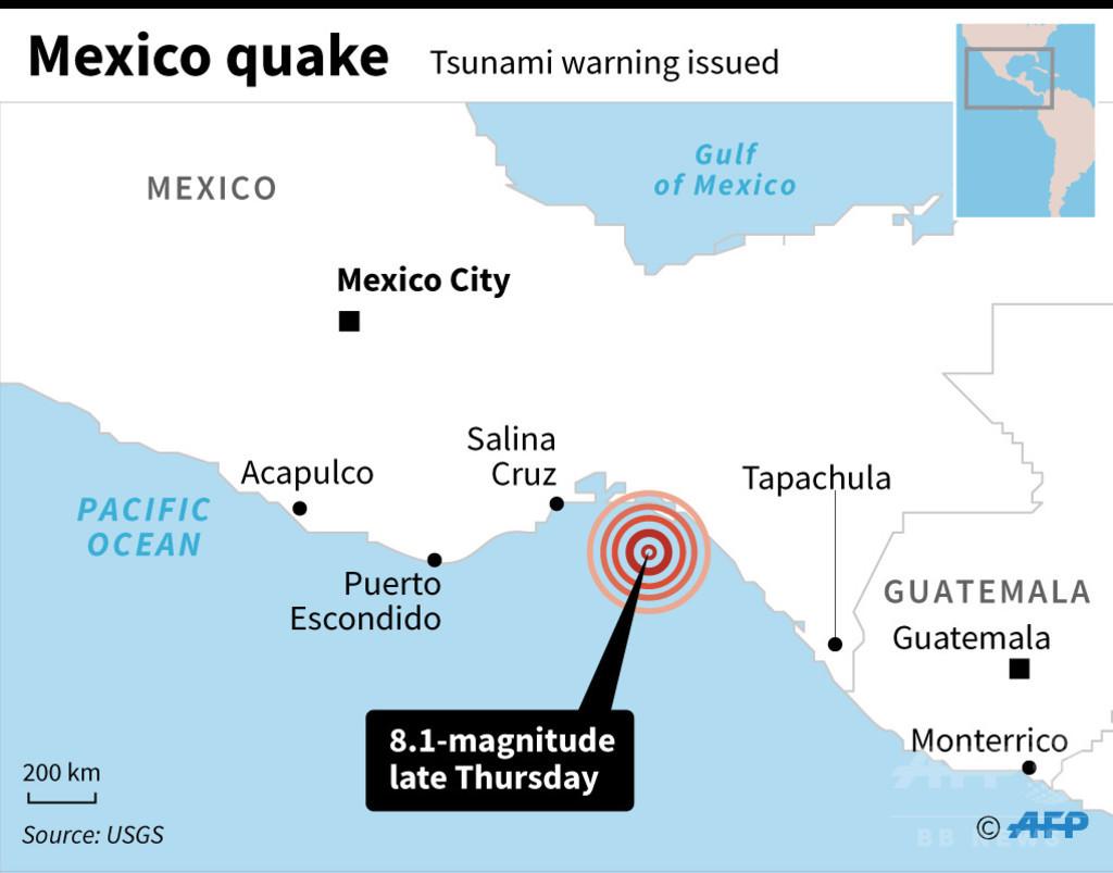 メキシコでM8.2の地震、少なくとも15人死亡 「過去100年間で最大の地震」