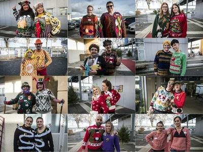 人気を呼んで恒例行事に? 第2回「ダサいセーター世界選手権」 仏