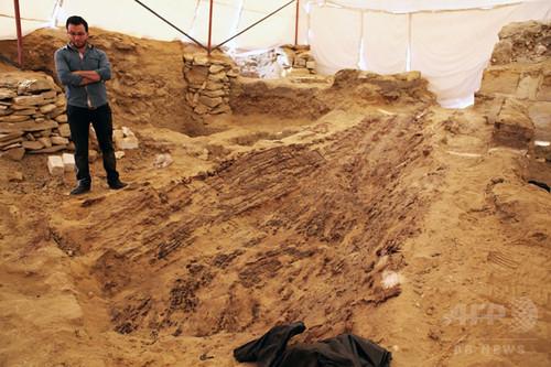 古代エジプトの木造船、ピラミッド付近で発見