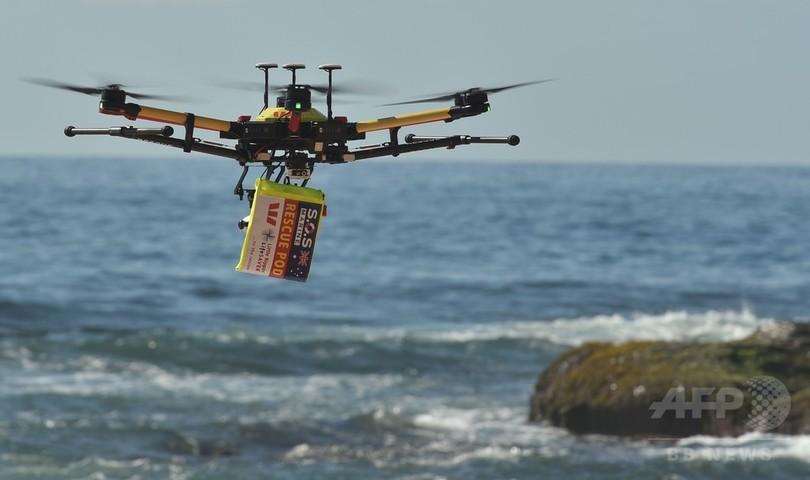 ビーチのパトロールはサメ探知用ドローンにお任せ、オーストラリア