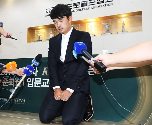 観客に中指立てた韓国人ゴルフ選手、3年間の出場停止に