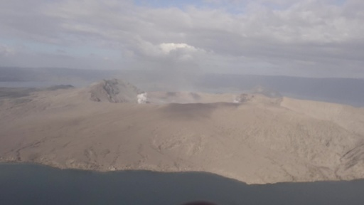 動画:無人のはずが…噴火したタール火山周辺に人の気配 フィリピン