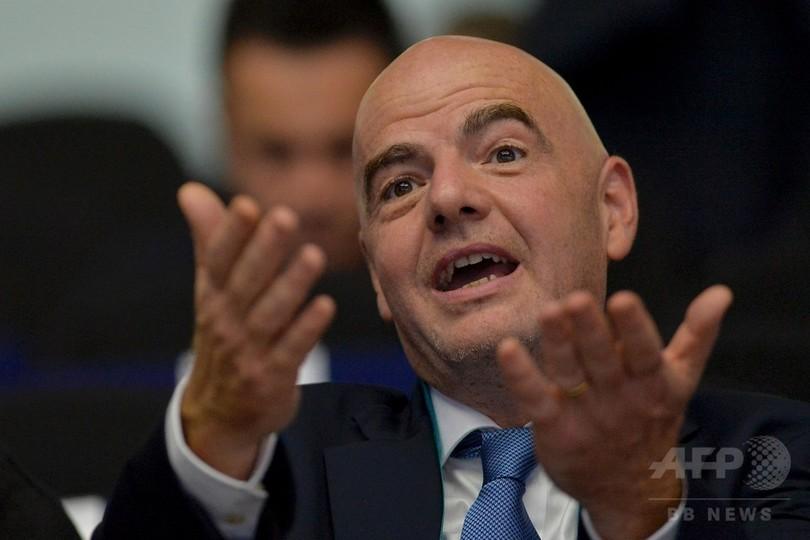 W杯出場国を48チームに拡大する新方式を提案、FIFA会長