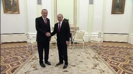動画:ロシア・トルコ首脳が会談、シリアの「安全地帯」協議へ