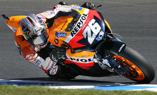 ペドロサ 第15戦・日本GPのフリー走行でトップタイムを記録