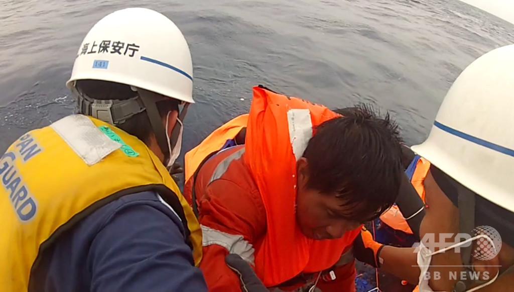 奄美沖貨物船沈没、台風10号接近で捜索難航