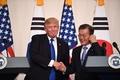 訪韓中のトランプ氏が記者会見、北朝鮮問題で「進展」強調