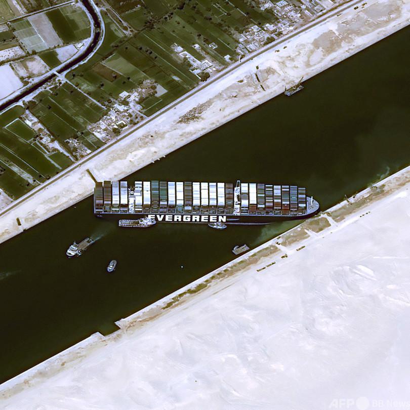 スエズ運河の船座礁、復旧に数週間も 担当企業が見解 写真8枚 国際 ...