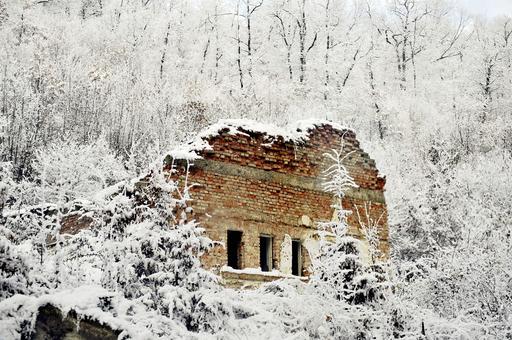 コソボの雪景色