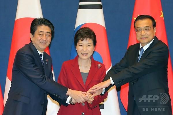 日中韓首脳会談、3年半ぶり 韓国