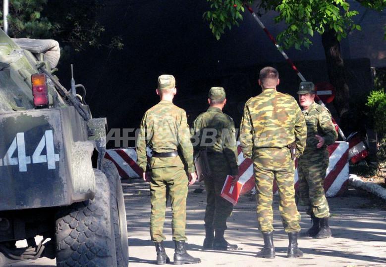 南オセチアで爆発、ロシア兵7人死亡