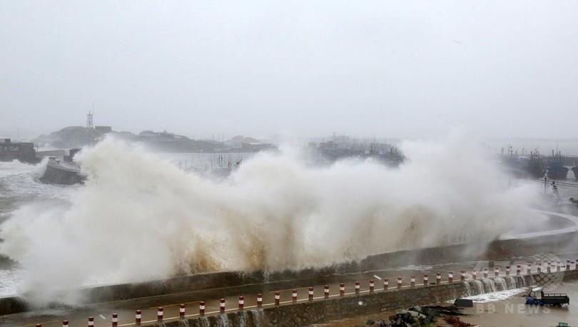 台風21号、台湾で3人死亡 346人負傷