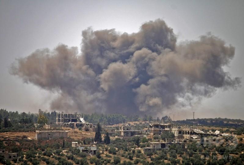 ロシア軍、シリア南部に空爆 民間人25人死亡