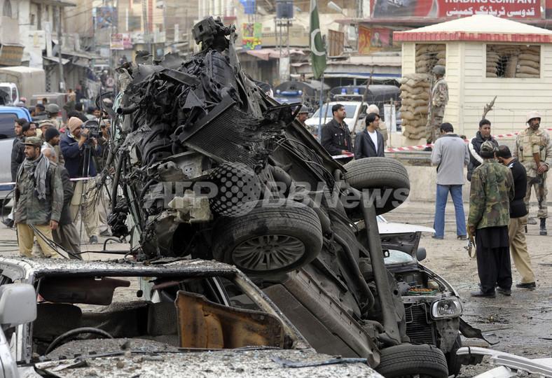 パキスタンのクエッタで自爆攻撃...