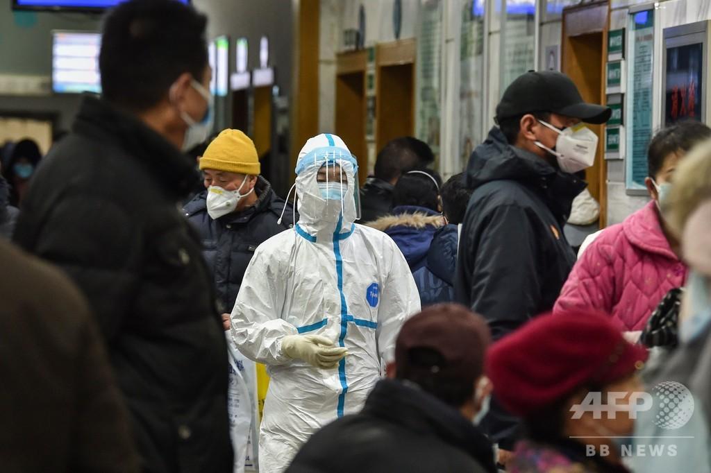 新型肺炎疑われる公共交通機関の利用者、中国全土で検査措置