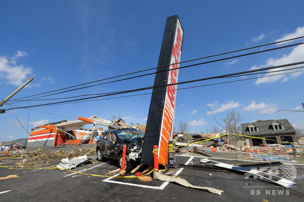 米テネシー州で竜巻、25人死亡 予備選当日に大きな被害