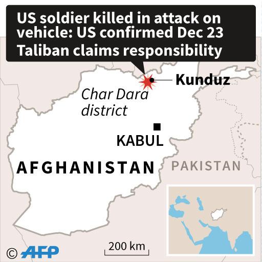 タリバンの襲撃で米兵1人死亡 アフガニスタン
