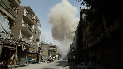動画:空爆続く東グータ、民間人29人死亡